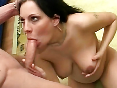 Licking her soft pink cum-hole