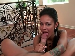 Small tits Angelina Valentine sucks big cock