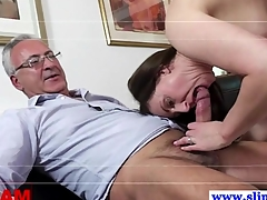 Old euro ladies' fucking two pussies