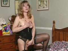Excited British milf in her solo instalment