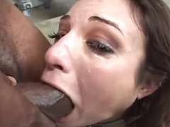 Amber Rayne face drilled by black dudes